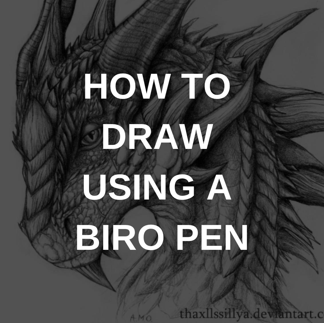 How to Draw Using a Biro Pen? - Artist Hue