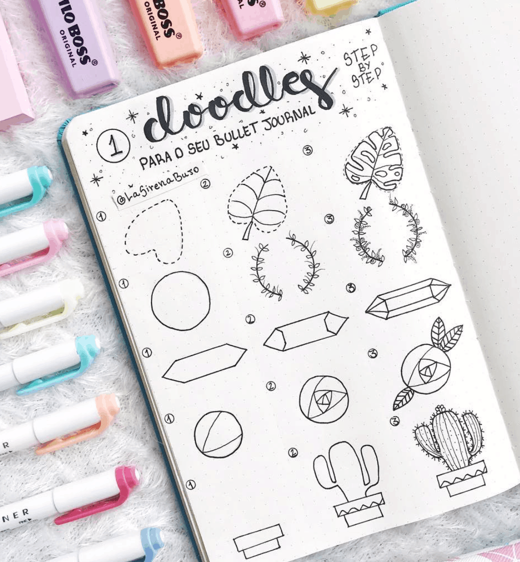 Cactus And Succulent Doodle Ideas For Bullet Journal Fashionable Crowd